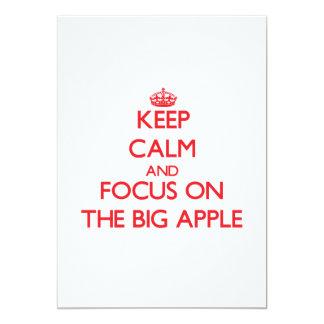 "Keep Calm and focus on The Big Apple 5"" X 7"" Invitation Card"