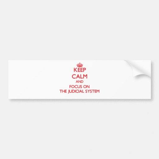 Keep Calm and focus on The Judicial System Bumper Stickers