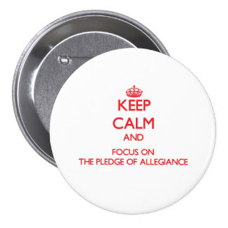Keep Calm and focus on The Pledge Of Allegiance Pinback Button