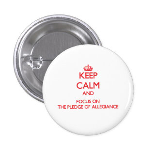Keep Calm and focus on The Pledge Of Allegiance Pin