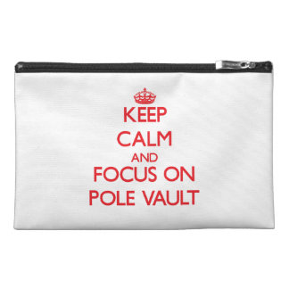 Keep calm and focus on The Pole Vault Travel Accessories Bags