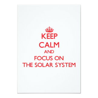 Keep Calm and focus on The Solar System Personalized Announcements