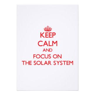 Keep Calm and focus on The Solar System Custom Invitations