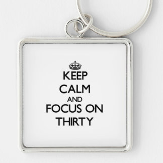 Keep Calm and focus on Thirty Keychains