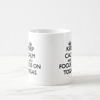 Keep Calm and focus on Togas Basic White Mug