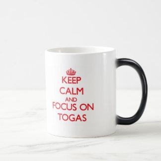 Keep Calm and focus on Togas Morphing Mug