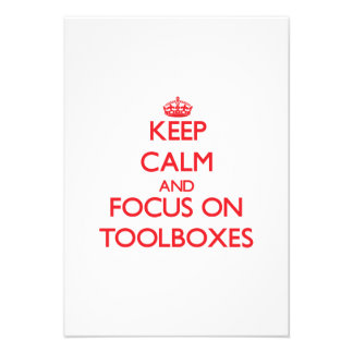 Keep Calm and focus on Toolboxes Personalized Announcements