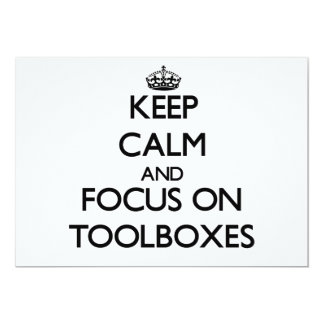 Keep Calm and focus on Toolboxes Card