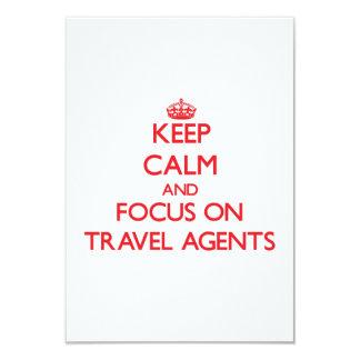 Keep Calm and focus on Travel Agents Custom Invitations