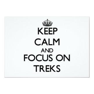 Keep Calm and focus on Treks 13 Cm X 18 Cm Invitation Card