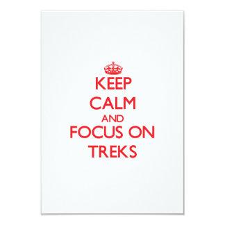 Keep Calm and focus on Treks 9 Cm X 13 Cm Invitation Card