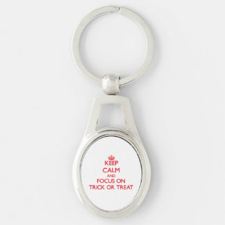 Keep Calm and focus on Trick Or Treat Keychain