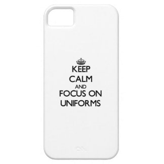 Keep Calm and focus on Uniforms Barely There iPhone 5 Case