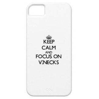 Keep Calm and focus on V-Necks iPhone 5/5S Cases