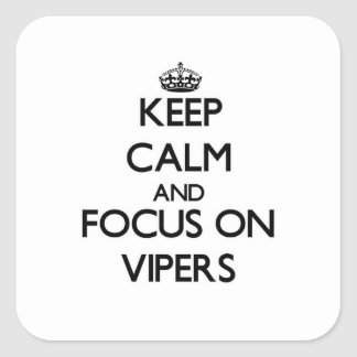 Keep Calm and focus on Vipers Square Sticker