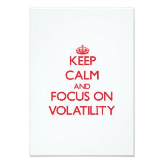 Keep Calm and focus on Volatility Custom Announcements