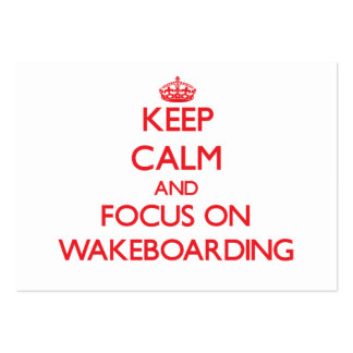 Keep calm and focus on Wakeboarding Business Card