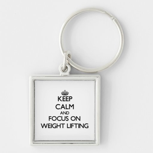 Keep Calm and focus on Weight Lifting Keychain