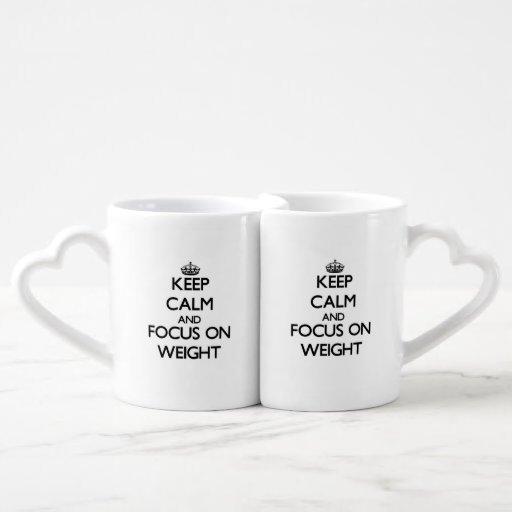 Keep Calm and focus on Weight Lovers Mug Set