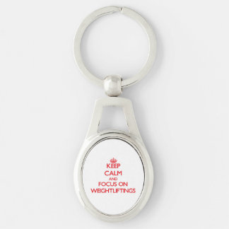 Keep Calm and focus on Weightliftings Keychains