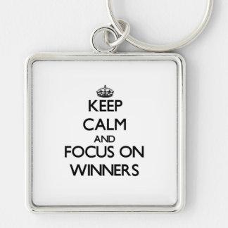 Keep Calm and focus on Winners Keychain