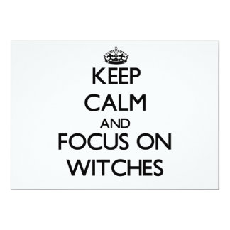 Keep Calm and focus on Witches Card