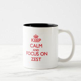 Keep Calm and focus on Zest Two-Tone Coffee Mug