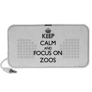 Keep Calm and focus on Zoos iPhone Speakers