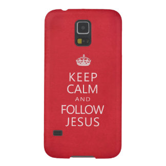 Keep Calm and Follow Jesus Religious Humor Case For Galaxy S5