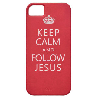 Keep Calm and Follow Jesus Spiritual iPhone 5 Cover
