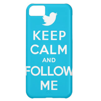 Keep Calm And Follow Me Carry On Twitter Bird Case For iPhone 5C