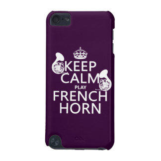 Keep Calm and French Horn any background color iPod Touch (5th Generation) Cases
