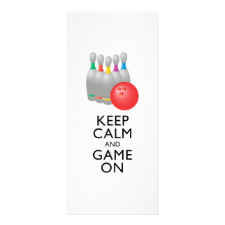 KEEP CALM AND GAME ON - Bowling Personalized Rack Card