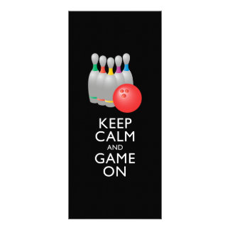 KEEP CALM AND GAME ON - Bowling Custom Rack Cards