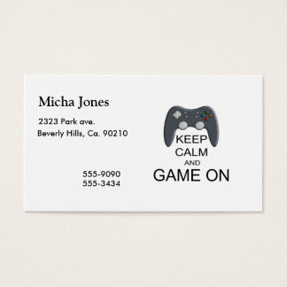 Keep Calm And Game ON Business Card