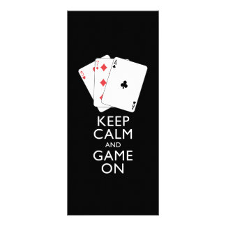 KEEP CALM AND GAME ON - Card Games Personalized Rack Card