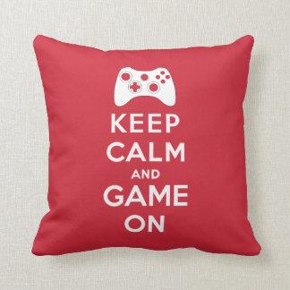 Keep calm and game on cushion