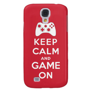 Keep calm and game on galaxy s4 cases
