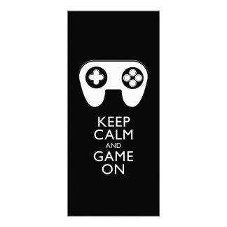 KEEP CALM AND GAME ON - Game pad Rack Cards