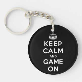 Keep Calm and Game On Key Ring