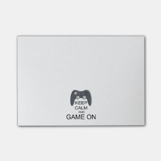 Keep Calm And Game ON Post-it® Notes