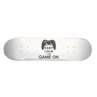 Keep Calm And Game ON Skate Board Decks