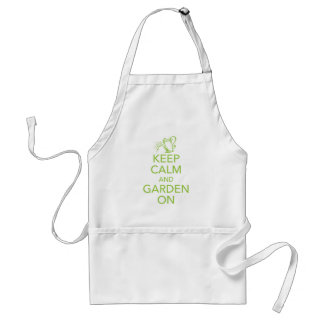 Keep Calm and Garden On Apron