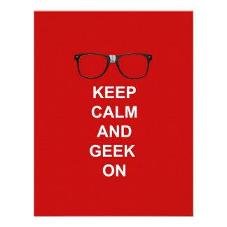 Keep Calm And Geek On Custom Invitation