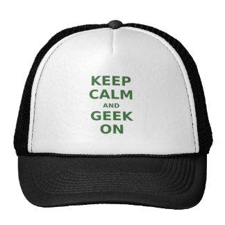 Keep Calm and Geek On Trucker Hats