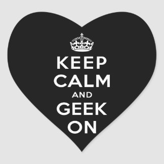 Keep Calm and Geek On Stickers