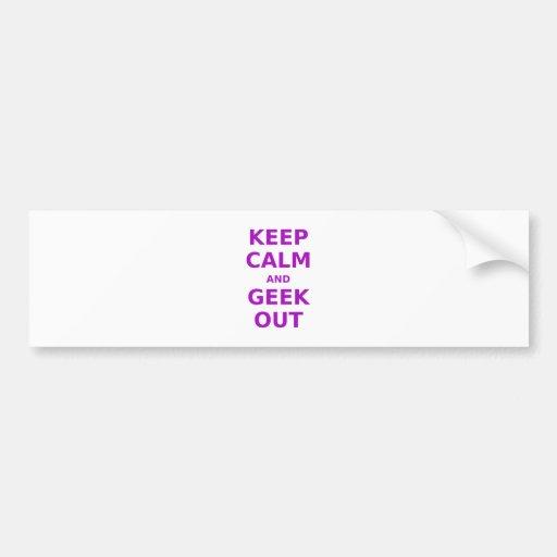 Keep Calm and Geek Out Bumper Sticker