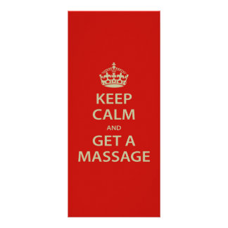 Keep Calm and Get a Massage Custom Rack Cards