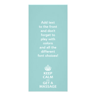 Keep Calm and Get a Massage Personalised Rack Card