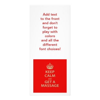 Keep Calm and Get a Massage Rack Card